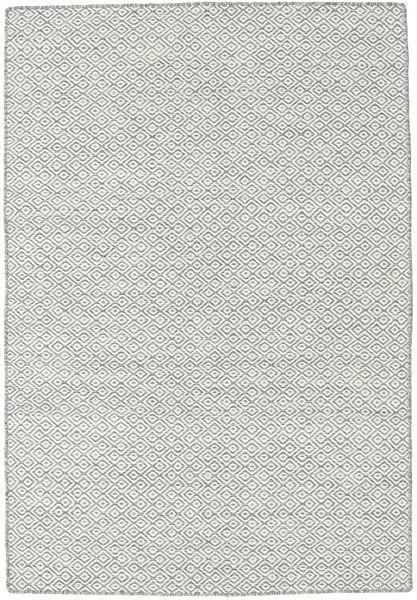 Kilim Goose Eye - Mid Gris Alfombra 120X180 Moderna Tejida A Mano Gris Claro/Beige (Lana, India)
