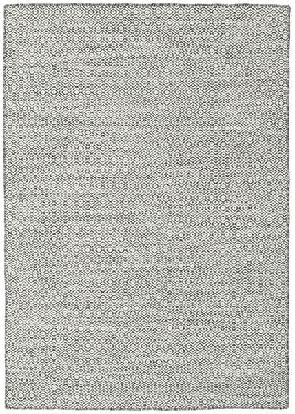 Kilim Goose Eye - Fekete/Szürke Szőnyeg 140X200 Modern Kézi Szövésű Világosszürke/Sötétszürke/Bézs (Gyapjú, India)