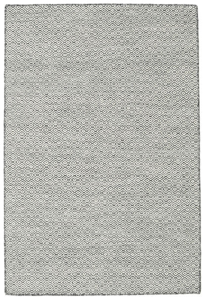 Tapete Kilim Goose Eye - Preto / Cinzento CVD18895