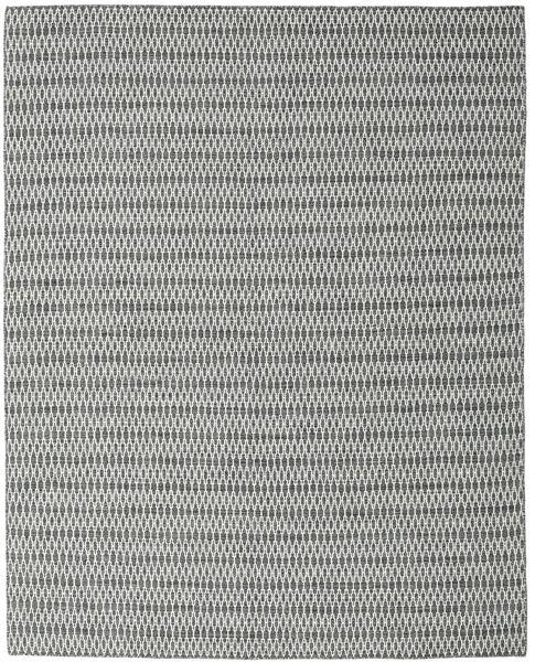 Kilim Long Stitch - Black/Grey Rug 240X300 Authentic  Modern Handwoven Light Grey/Dark Grey (Wool, India)