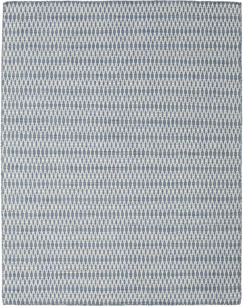 Kilim Long Stitch - Blue Rug 190X240 Authentic  Modern Handwoven Light Blue/White/Creme (Wool, India)
