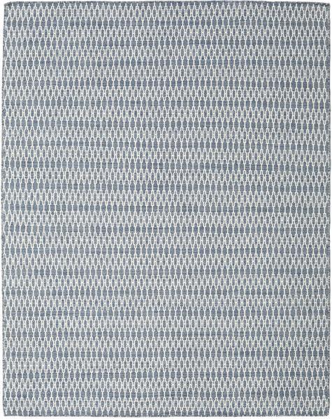 Kilim Long Stitch - Niebieski Dywan 190X240 Nowoczesny Tkany Ręcznie Jasnoszary/Jasnoniebieski (Wełna, Indie)