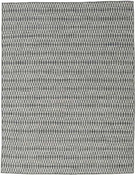 Kilim Long Stitch - Black/Grey Rug 190X240 Authentic  Modern Handwoven Light Grey/Dark Grey (Wool, India)