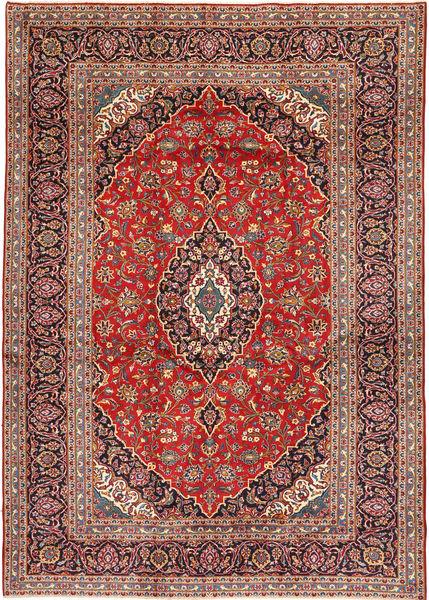 Keshan Matto 253X375 Itämainen Käsinsolmittu Ruskea/Tummanruskea Isot (Villa, Persia/Iran)