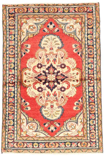 Hamadan Matto 100X155 Itämainen Käsinsolmittu Beige/Oranssi (Villa, Persia/Iran)