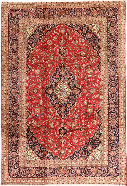 Keshan Rug 240X355 Authentic  Oriental Handknotted Dark Red/Rust Red (Wool, Persia/Iran)