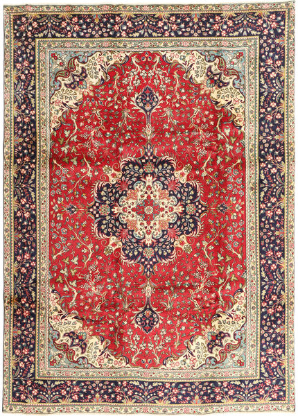 Tabriz Rug 245X340 Authentic  Oriental Handknotted Rust Red/Dark Red (Wool, Persia/Iran)