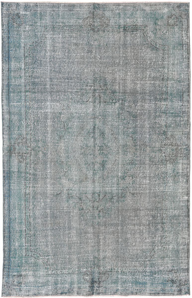 Colored Vintage Rug 185X290 Authentic  Modern Handknotted Light Grey/Dark Grey (Wool, Turkey)