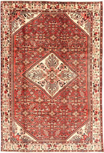 Hosseinabad Matto 202X310 Itämainen Käsinsolmittu Ruskea/Vaaleanruskea (Villa, Persia/Iran)