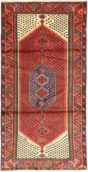 Zanjan Szőnyeg 102X203 Keleti Csomózású Sötétpiros/Barna (Gyapjú, Perzsia/Irán)