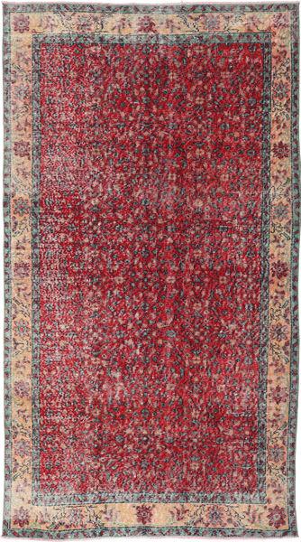 Colored Vintage Szőnyeg 130X243 Modern Csomózású Piros/Sötétszürke (Gyapjú, Törökország)