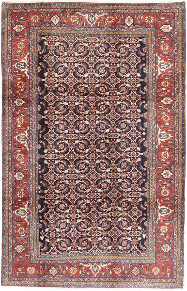 Hamadan Rug 207X325 Authentic  Oriental Handknotted Brown/Purple (Wool, Persia/Iran)