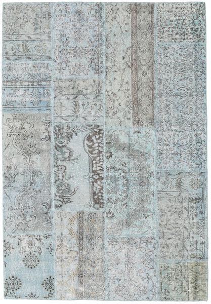 Patchwork Covor 161X234 Modern Lucrat Manual Albastru Deschis/Gri Deschis (Lână, Turcia)