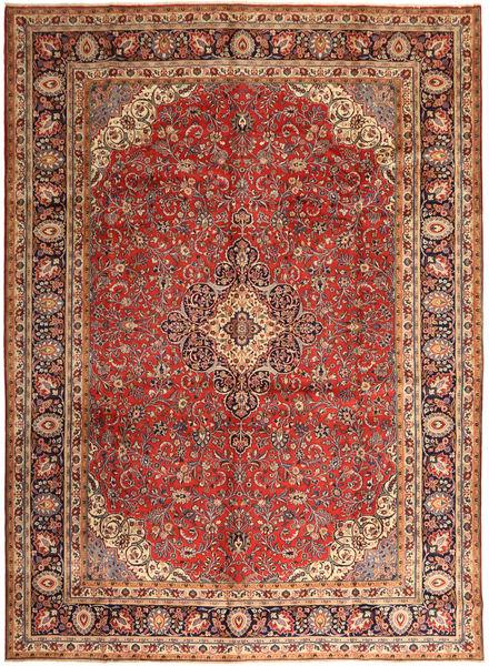Hamadan Shahrbaf Matto 296X400 Itämainen Käsinsolmittu Tummanpunainen/Vaaleanruskea Isot (Villa, Persia/Iran)