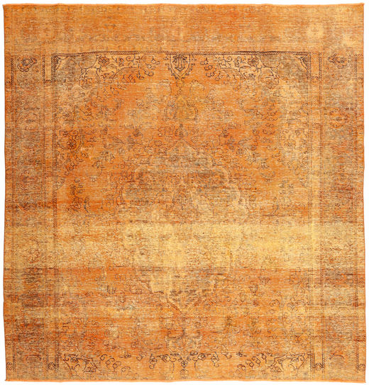 Colored Vintage Rug 285X290 Authentic  Modern Handknotted Square Light Brown/Orange Large (Wool, Persia/Iran)