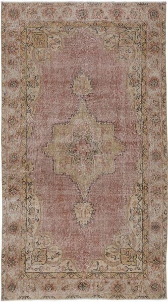Colored Vintage Rug 115X208 Authentic  Modern Handknotted Light Brown/Brown (Wool, Turkey)