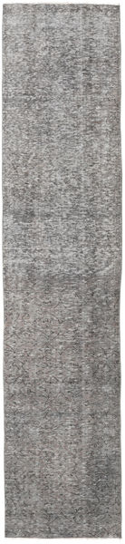 Colored Vintage Rug 73X336 Authentic  Modern Handknotted Hallway Runner  Light Grey/Dark Grey (Wool, Turkey)