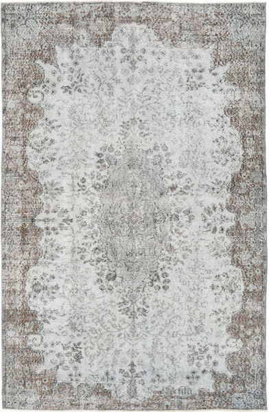 Colored Vintage Rug 165X259 Authentic  Modern Handknotted Light Grey (Wool, Turkey)