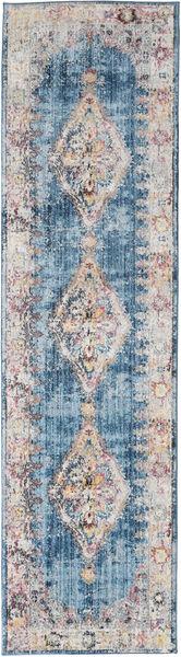Cornelia - Bleu Foncé Tapis 80X300 Moderne Tapis Couloir Violet Clair/Gris Clair ( Turquie)