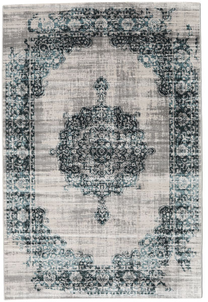 Jinder - Petrol/Greige Rug 140X200 Modern Light Grey/Dark Grey ( Turkey)