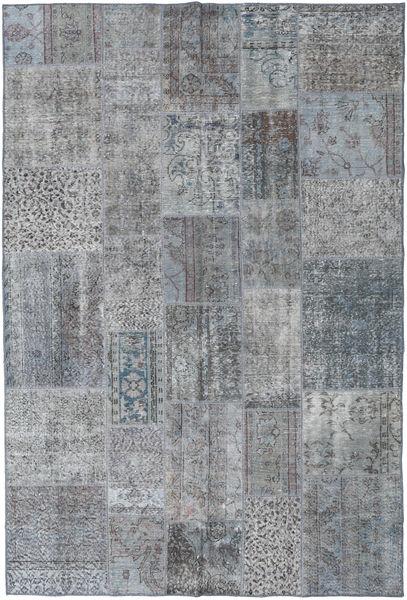 パッチワーク 絨毯 200X300 モダン 手織り 薄い灰色/濃いグレー (ウール, トルコ)