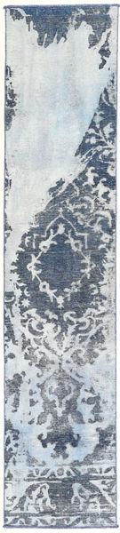 Colored Vintage Teppe 55X283 Ekte Moderne Håndknyttet Teppeløpere Lys Grå/Beige (Ull, Persia/Iran)