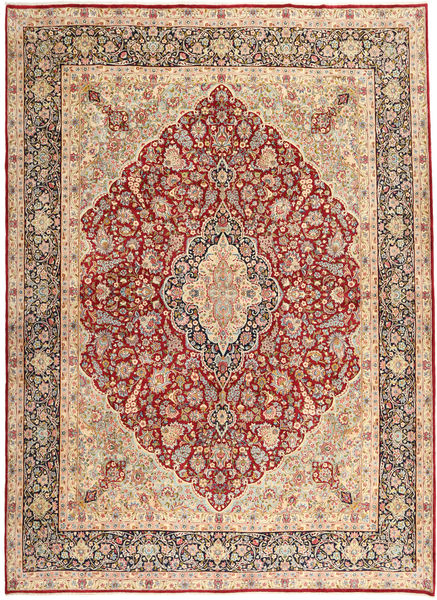 Kerman Rug 310X420 Authentic  Oriental Handknotted Light Brown/Light Pink Large (Wool, Persia/Iran)