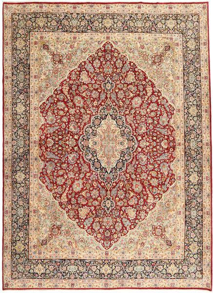 Kerman Dywan 310X420 Orientalny Tkany Ręcznie Jasnobrązowy/Jasnoróżowy Duży (Wełna, Persja/Iran)