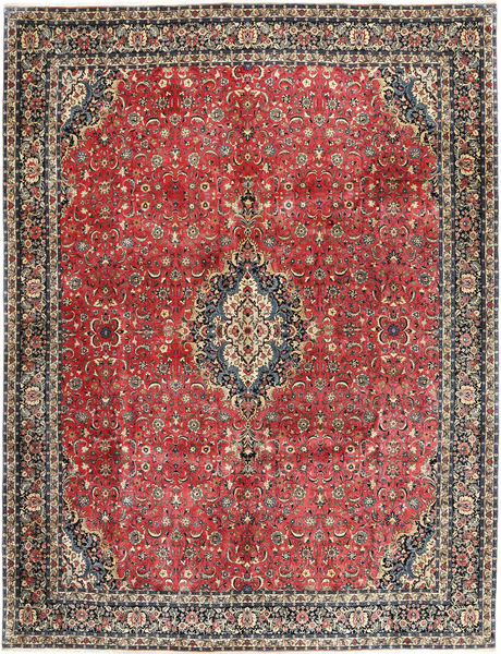 Bidjar With Silk Rug 297X385 Authentic  Oriental Handknotted Dark Grey/Light Brown Large (Wool/Silk, Persia/Iran)