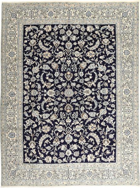 Nain 9La Matto 300X400 Itämainen Käsinsolmittu Vaaleanharmaa/Tummanvioletti Isot (Villa/Silkki, Persia/Iran)
