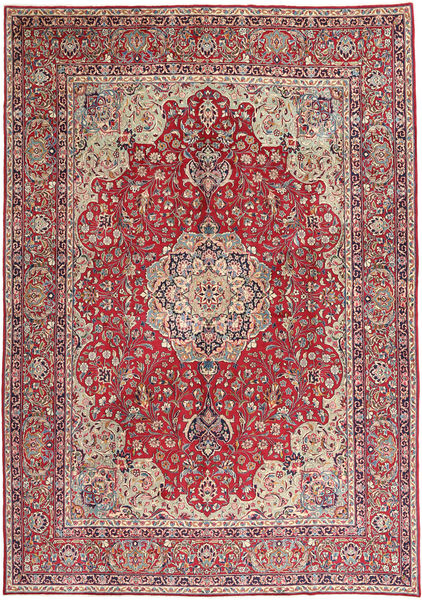 Kerman Rug 290X415 Authentic  Oriental Handknotted Crimson Red/Light Brown Large (Wool, Persia/Iran)