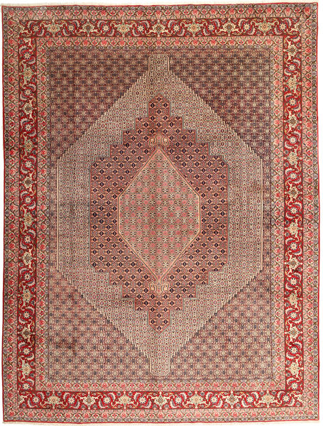 Senneh Rug 300X397 Authentic  Oriental Handknotted Brown/Light Brown Large (Wool, Persia/Iran)