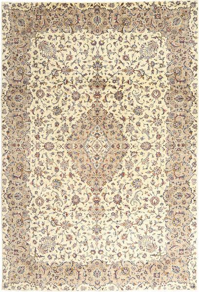 Keshan Rug 243X350 Authentic  Oriental Handknotted Beige/Light Brown (Wool, Persia/Iran)