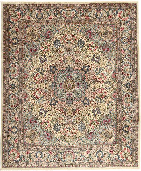 Keshan Sherkat Farsh Matto 246X300 Itämainen Käsinsolmittu Vaaleanruskea/Beige (Villa, Persia/Iran)
