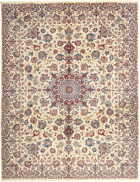 Najafabad Rug 300X382 Authentic  Oriental Handknotted Beige/Light Pink Large (Wool, Persia/Iran)