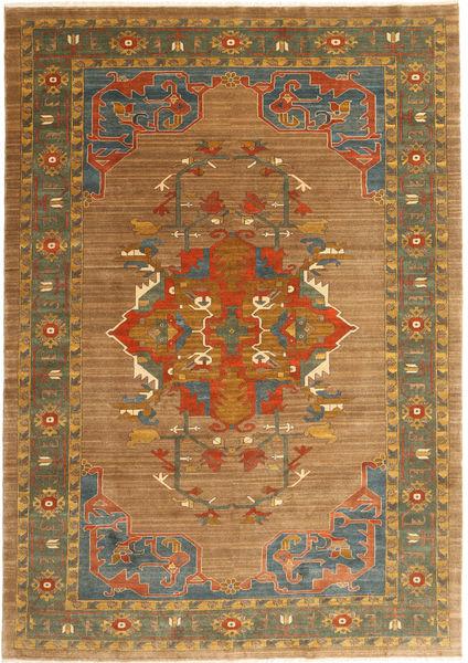 Heriz Rug 206X292 Authentic  Oriental Handknotted Brown/Light Brown (Wool, Persia/Iran)