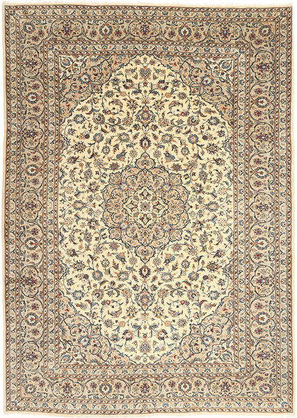 Keshan Rug 250X352 Authentic  Oriental Handknotted Light Brown/Beige Large (Wool, Persia/Iran)