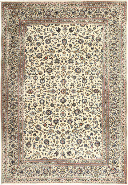 Keshan Rug 249X358 Authentic  Oriental Handknotted Beige/Dark Grey/Light Brown (Wool, Persia/Iran)
