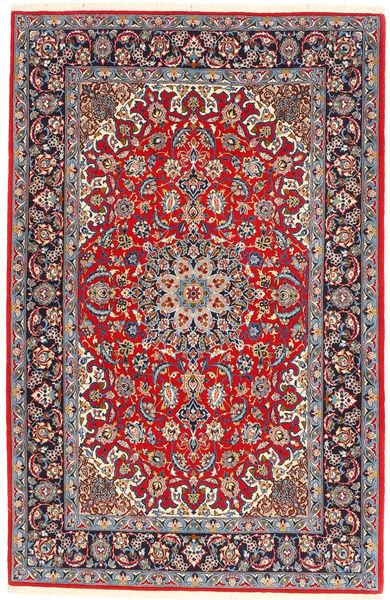 Isfahan Jedwabna Osnowa Dywan 110X175 Orientalny Tkany Ręcznie Brązowy/Jasnoszary (Wełna/Jedwab, Persja/Iran)