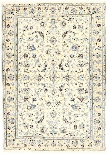 Naïn 6La Tapis 100X153 D'orient Fait Main Beige/Gris Clair (Laine/Soie, Perse/Iran)