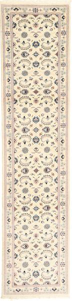 Nain 9La Matto 75X337 Itämainen Käsinsolmittu Käytävämatto Beige/Vaaleanruskea (Villa/Silkki, Persia/Iran)