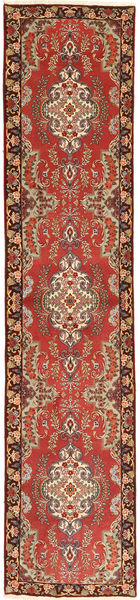 Tabriz 50 Raj Rug 86X400 Authentic  Oriental Handknotted Hallway Runner  Rust Red/Dark Red (Wool, Persia/Iran)