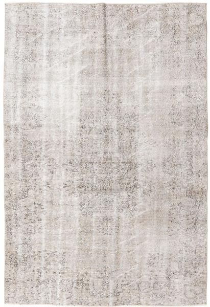 Colored Vintage Rug 159X249 Authentic  Modern Handknotted White/Creme/Dark Grey/Light Grey (Wool, Turkey)