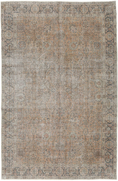 Colored Vintage Rug 195X297 Authentic  Modern Handknotted Light Grey/Brown (Wool, Turkey)