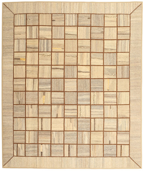 Kelim Patchwork Matto 214X253 Moderni Käsinkudottu Tummanbeige/Vaaleanruskea (Villa, Persia/Iran)