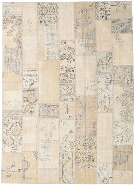 Patchwork Rug 251X349 Authentic  Modern Handknotted Beige/Light Brown Large (Wool, Turkey)