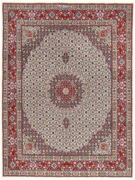 Moud Matto 150X200 Itämainen Käsinsolmittu Vaaleanruskea/Tummanpunainen (Villa/Silkki, Persia/Iran)