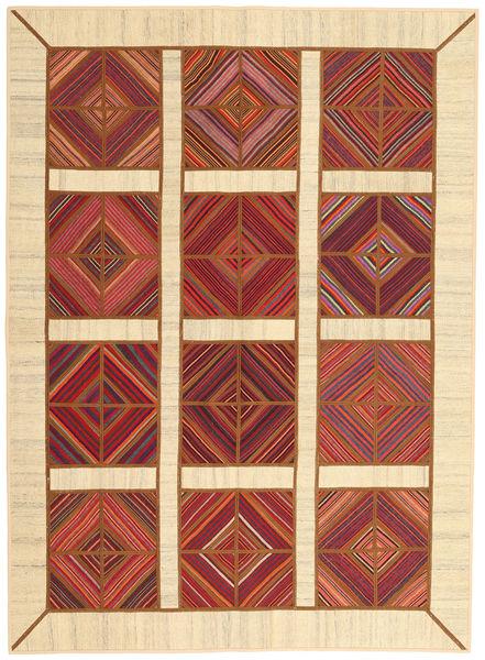 Chilim Patchwork Covor 172X235 Modern Lucrate De Mână Bej/Ruginiu (Lână, Persia/Iran)