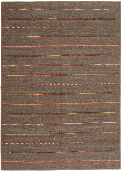 Kilim Patchwork Rug 170X243 Authentic  Modern Handwoven Brown/Dark Brown (Wool, Persia/Iran)