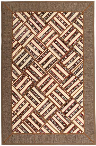 Kilim Patchwork Tapis 165X252 Moderne Fait Main Marron/Marron Foncé (Laine, Perse/Iran)